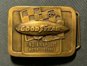 1977 Indianapolis Motor Speedway / Goodyear Tires Blimp, Brass Belt Buckle