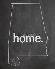 "ALABAMA HOME STATE PRIDE 2"" x 3"" Fridge MAGNET CHALKBOARD CHALK COUNTRY"