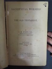 1863 Worship of the Old Testament by J.H. Kurtz - Paul Rader's Bookplate