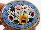 SUPERB VINTAGE ITALIAN MURANO MICRO MOSAIC FLORAL BROOCH TINY GLASS CANES