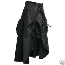 STEAMPUNK GOTHIC HIPPY BOHO COSPLAY SKIRT LONG  BLACK SIZE 10