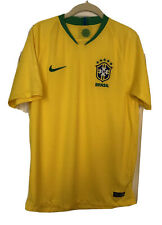 New Nike 2018 Brasil CBF Vapor Match Home Jersey Yellow Green Medium  World Cup