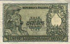 BANCONOTA DA 50 LIRE 31.12.1951 Bolaffi - Cavallaro - Giovico SERIE 0677  SC-7