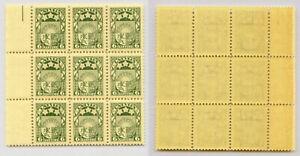 Latvia 🇱🇻 1931 SC 155 MNH block of 9 . rtb4701