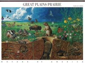 US SCOTT 3506 PANE OF 10 GREAT PLAINS PRAIRIE 34 CENT FACE MNH 3RD IN SERIES