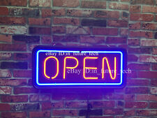 "New Open Neon Light Sign 24""x20"" Man Cave Business Cafe Coffee Real Glass Bar"