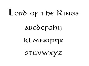 Lord of the Rings Font Stencil