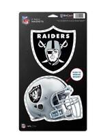 Oakland Raiders großes Magnet 2 er Set,NFL Football,Team Logo und Helm,Neu
