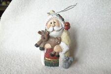 1997 Eddie Walker Woodland Santa Claus w/Reindeer & Squirrel Ornament-Rare Find