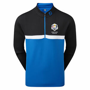 FootJoy The 2020 Ryder Cup FootJoy Colour Blocked Chill-Out Pullover Black/Royal