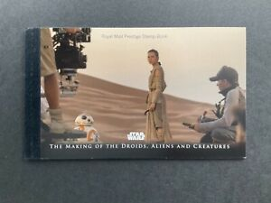 ROYAL MAIL PRESTIGE STAMP BOOK STAR WARS, THE MAKING OF THE DROIDS,ALIENS DY23