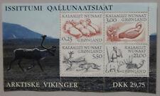 Greenland Mini Block 2000 ARCTIC WIKINGS  AFA 356 - Scott 358-359-360-361a
