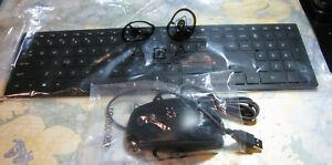 HP Pavillion Wireless Keyboard &Logitech Wired Optical Mouse M-U0026-NEW(unused)