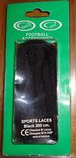 Classico Locus Football Boot Sports Laces 200CM Shoe Accessories Black £2.99