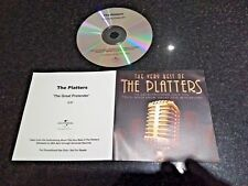 "THE PLATTERS ""THE GREAT PRETENDER"" RARE 2008 UK PROMO CD SINGLE"