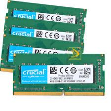4pcs-Crucial 4 ГБ PC4-17000S DDR4 2133 МГц для ноутбука CL15 Sodimm памяти CT4G4SFS8213