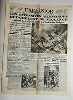 N739 La Une Du Journal Excelsior 14 mai 1940 offensive allemandes violence