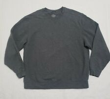 LL Bean Men's Gray Cotton Blend Crewneck Sweater XL Traditional Fit