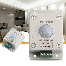 DC 12V-24V 8A Automatic Infrared PIR Motion Sensor Switch Detector Led Light