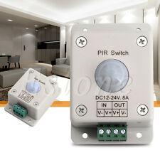 DC 12V-24V 8A Automatic Infrared PIR Motion Sensor Switch For LED lighting light