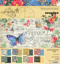 Graphic45 FLUTTER 8x8 PAPER PAD scrapbooking (24) SHEETS (8) DESIGNS