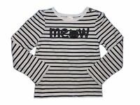 NWT Girls Gymboree City Kitty Meow cat striped long sleeve shirt 18-24 months 3T