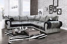Grey Velvet L Shaped Sofa Catosferanet