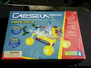 CAPSELA 1000 Motorized Land Water Toys Construction Set COMPLETE Mint in Box