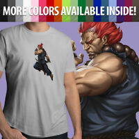Capcom Street Fighter Akuma Gouki Martial Arts Game Unisex Mens Tee Crew T-Shirt