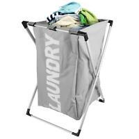 Folding Clothes Laundry Washing Basket Hamper Bin Portable Bag Wash Storage