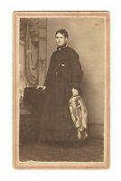Vintage Antique 1860s W.C. Tresize Photo American Woman Lady McConnelsville Ohio