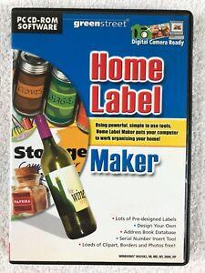 Home Label Maker - Windows PC - CD-ROM - GreenStreet