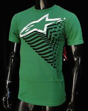 Alpinestars Racing Motocross Trails Green Atletic mens T shirt size Small