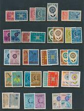 Europa Sets (1963-67) Germany Norway Turkey Iceland & Netherland Mnh/Mh