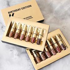 6Pcs Gold Mini Matte Liquid Lipstick Waterproof Sexy Lip Gloss Makeup Set Gifts