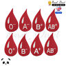 Blood Group Embroidered Iron On /Sew On Patch Badge A+ A- B+ B- O+ 0-