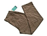 Lee Relaxed Fit At The Waist Plain Front Comfort Waist Stretch Brown Sz 16 M NWT
