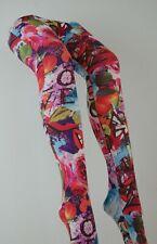 Patterned Tights Printed Funky Alternative Tattoo Suspender Bright Fun UK stock