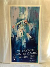 Leroy Neiman Olympic Winter Games Lake Placid 1980 Signed Lithograph Olympics