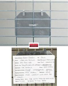 """12 -Aluminum ID CARD HOLDER 3x5"""" For Index Kennel Cards For Pet Dog Cage Crate"""