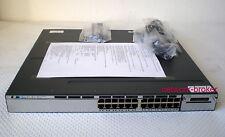 Cisco ws-c3750x-24t-s 24 Port 10/100/1000 + 2 X fuente de alimentación c3kx-pwr-350wac