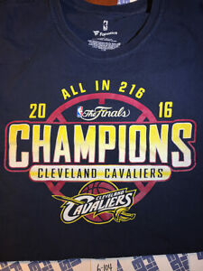 Cleveland Cavaliers Official 2016 NBA Finals Champions T-Shirt XL 6104 Fanatics