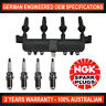4x Genuine NGK Spark Plugs & 1x Ignition Coil for Peugeot 206