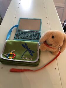 American Girl Retired LANIE LAPTOP COMPUTER & MESSENGER BAG Meet Accessories EUC