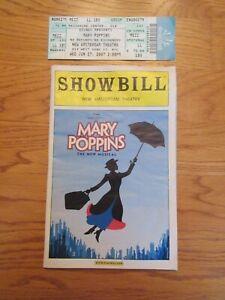 2007 Broadway Playbill Ticket Disney Mary Poppins Ashley Brown