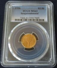 1926 Sesquicentennial 2.50 Gold Commemorative United States Coin, PCGS MS61