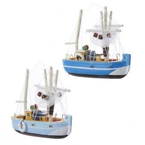 Wood Fishing Boat Ornament