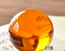 40mm Rare Magic Amber Crystal Healing Ball Sphere With Removable Base +Stand f01