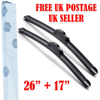 WIPER BLADES FOR Nissan Qashqai J11 2014-2018 FRONT WINDSCREEN Quality 26''17''