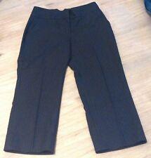 Beau PANTACOURT CAMAIEU T36 Noir à très fines rayures Chic NEUF jamais porté